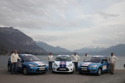 L'écurie Ford-Drive-Classic au Monte-Carlo des véhicules à énergies alternatives